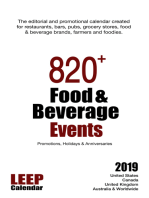 820+ Food & Beverage Events, Promotions, Holidays & Anniversaries for 2019