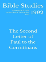 Bible Studies 1992 - The Second Letter of Paul to the Corinthians