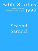 Bible Studies 1993 - Second Samuel