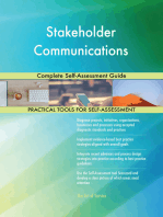 Stakeholder Communications Complete Self-Assessment Guide