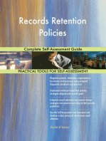 Records Retention Policies Complete Self-Assessment Guide