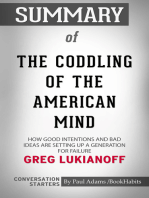 Summary of The Coddling of the American Mind