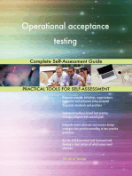 Operational acceptance testing Complete Self-Assessment Guide