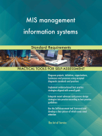 MIS management information systems Standard Requirements