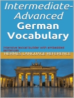Intermediate-Advanced German Vocabulary