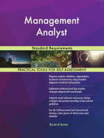 Management Analyst Standard Requirements
