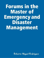 Forums in the Master of Emergency and Disaster Management