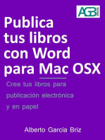 Publica tus libros con Word para Mac OSX: Minilibros prácticos, #3