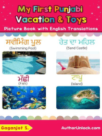 My First Punjabi Vacation & Toys Picture Book with English Translations