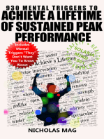 930 Mental Triggers to Achieve a Lifetime of Sustained Peak Performance