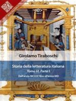 Storia della letteratura italiana del cav. Abate Girolamo Tiraboschi – Tomo 6. – Parte 1