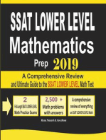 SSAT Lower Level Mathematics Prep 2019