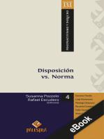 Disposición vs. Norma