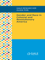 Gale Researcher Guide for: Gender and Race in Colonial and Revolutionary America