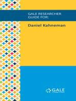 Gale Researcher Guide for: Daniel Kahneman