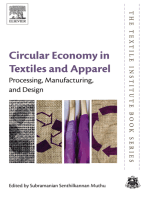 Circular Economy in Textiles and Apparel: Processing, Manufacturing, and Design
