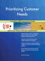Prioritizing Customer Needs Complete Self-Assessment Guide