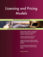 Licensing and Pricing Models Standard Requirements
