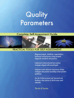 Quality Parameters Complete Self-Assessment Guide