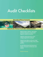 Audit Checklists Standard Requirements