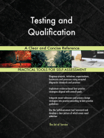 Testing and Qualification A Clear and Concise Reference