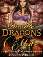 Double Dragons Mate (Dragon Shifter MFM Menage Romance)