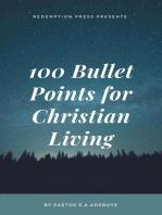 100 Bullet Points For Christian Living