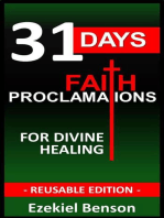 31 Days Faith Proclamations For Divine Healing