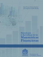 Manual para el Aprendizaje de las Matemáticas Financiera
