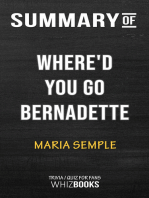 Summary of Where'd You Go, Bernadette