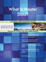 What Is Master Data? Complete Self-Assessment Guide