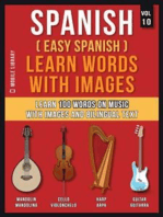 Spanish ( Easy Spanish ) Learn Words With Images (Vol 10)