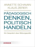 Pädagogisch denken, politisch handeln