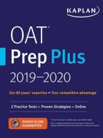 OAT Prep Plus 2019-2020: 2 Practice Tests + Proven Strategies + Online