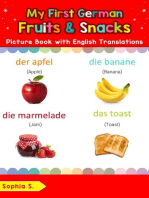 My First German Fruits & Snacks Picture Book with English Translations