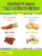 My First German Vegetables & Spices Picture Book with English Translations