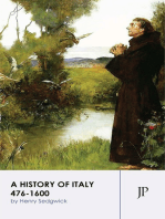 A History of Italy 476-1600