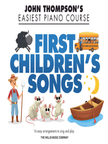 First Children's Songs: John Thompson's Easiest Piano Course