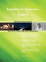 Budgeting for Application Support Standard Requirements