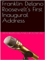 Inaugural Address of Franklin Delano Roosevelt / Given in Washington, D.C. March 4th, 1933