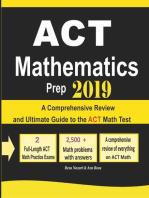 ACT Mathematics Prep 2019
