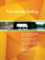 Prerelease Testing Standard Requirements