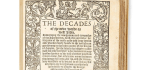 Copy Of Rare Book Decades Of The Newe Worlde Goes On Sale In Hong Kong For US$225,000