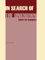 In Search of the Unknown