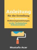 Anleitung für die Erstellung von textarmen Bedienungsanleitungen