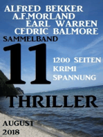 Sammelband 11 Thriller August 2018