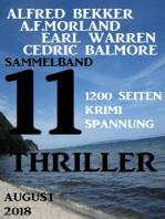 Sammelband 11 Thriller August 2018