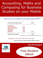 Accounting, Maths and Computing Principles for Business Studies on Your Mobile