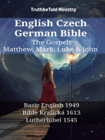 English Czech German Bible - The Gospels - Matthew, Mark, Luke & John