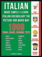 Italian Made Simple - Learn Italian Vocabulary the Picture and Word way